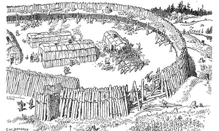 Part of a Palisaded Huron-Iroquois Village